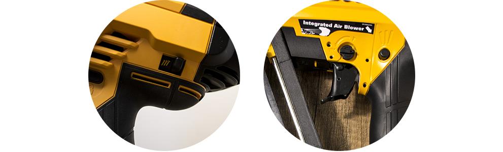 gachette double sécurité cloueur pneumatique selecteur de tir à la volée