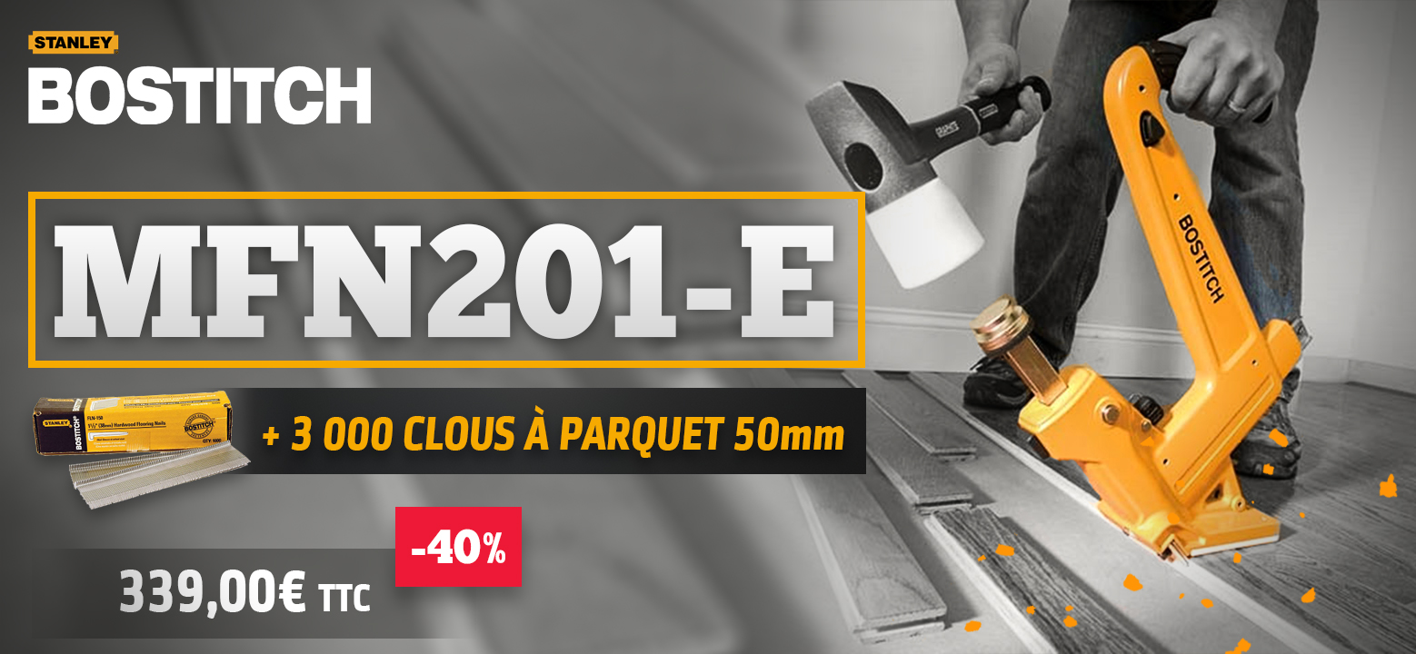 cloueur à parquet mfn201-e bostitch pack