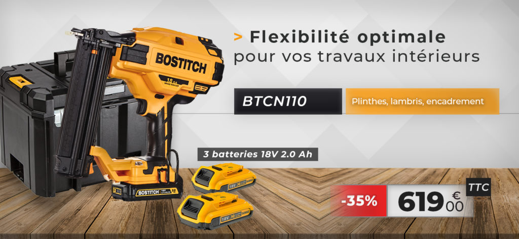 btcn110 cloueur finition autonome bostitch batterie