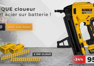 cloueur batterie beton dewalt dcn890p2 clous standard offert
