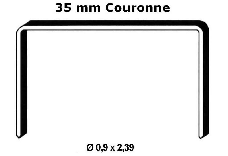 agrafes bande couronne 35 mm fermeture carton
